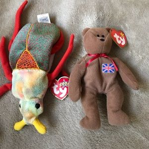 Britannia the Bear & Scurry 2000 Beany Babies